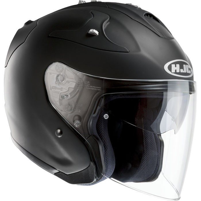 hjc casque jet moto scooter fibre fg jet noir mat. Black Bedroom Furniture Sets. Home Design Ideas