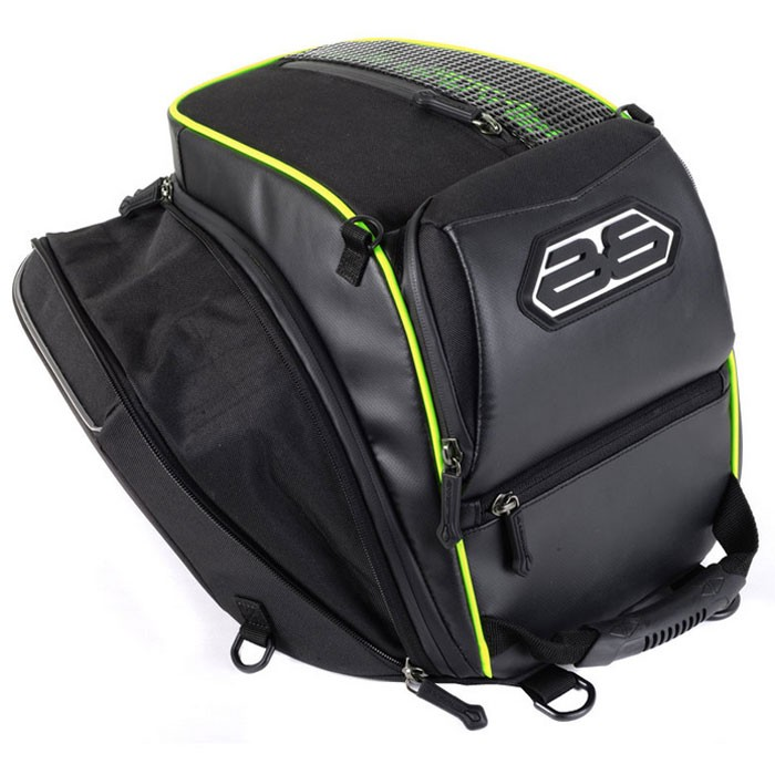 bagster sacoche de selle moto transformer extensible 14 18l xss020. Black Bedroom Furniture Sets. Home Design Ideas