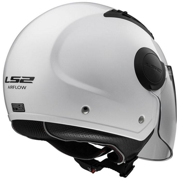 casque jet urbain of562 airflow ls2 moto scooter blanc. Black Bedroom Furniture Sets. Home Design Ideas