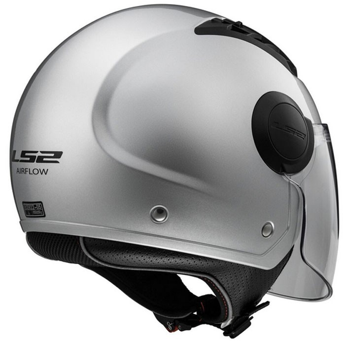 casque jet urbain of562 airflow ls2 moto scooter gris brillant. Black Bedroom Furniture Sets. Home Design Ideas
