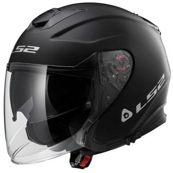 LS2 casque jet moto scooter FIBRE OF521.10 INFINITY noir mat