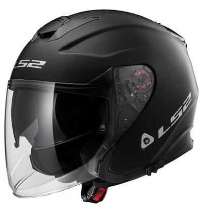 Ls2 Jet Helmet Moto Scooter Fiber Of52110 Infinity Matt Black