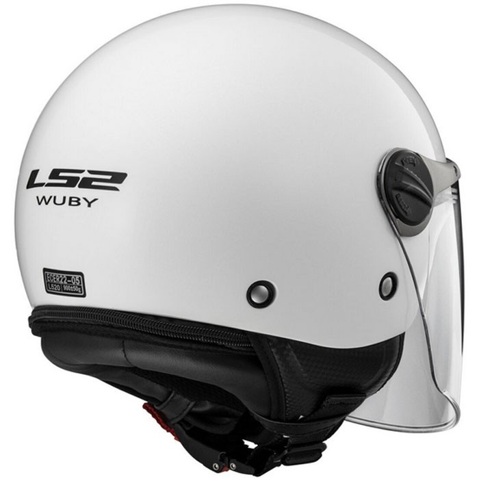 casque moto enfant jet wuby junior ls2 moto scooter blanc brillant. Black Bedroom Furniture Sets. Home Design Ideas