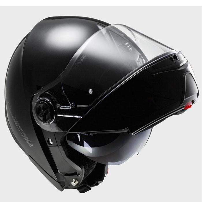 ls2 casque int gral modulable ff325 strobe noir brillant moto scooter. Black Bedroom Furniture Sets. Home Design Ideas