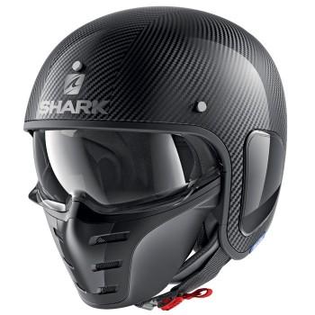 SHARK casque jet moto scooter S-DRAK CARBON SKIN DSK noir brillant
