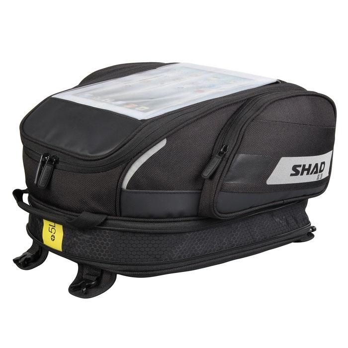 shad sacoche de r servoir moto xosl20f extensible 15 20l. Black Bedroom Furniture Sets. Home Design Ideas