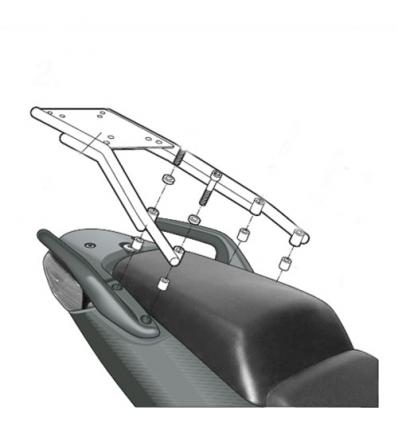 SHAD TOP MASTER support top case HONDA CBF 500 600 1000 2004 à 2012 porte bagage HOCB64ST