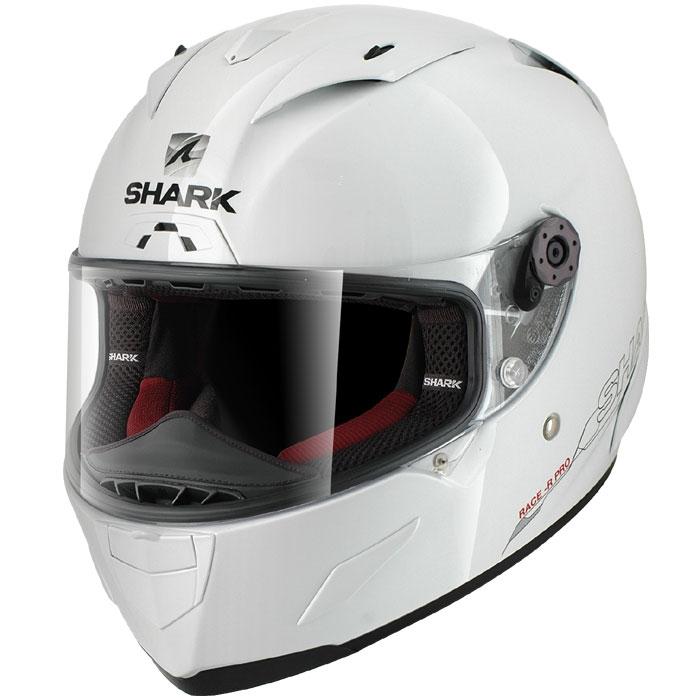 shark casque moto int gral fibre racing race r pro blank whu blanc brillant. Black Bedroom Furniture Sets. Home Design Ideas
