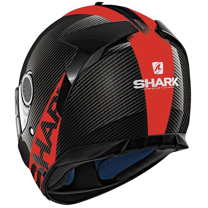shark casque moto int gral en carbone spartan skin drr noir rouge brillant. Black Bedroom Furniture Sets. Home Design Ideas
