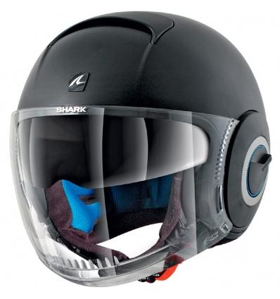 shark casque jet moto scooter nano blank kma noir mat. Black Bedroom Furniture Sets. Home Design Ideas