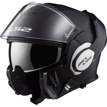 LS2 casque intégral modulable en jet FF399 VALIANT moto scooter noir mat