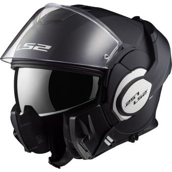 LS2 FF399 VALIANT modular in jet helmet moto scooter matt black