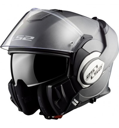 LS2 casque intégral modulable en jet FF399 VALIANT moto scooter titane mat