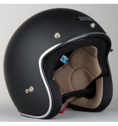 ixs casque jet vintage moto scooter hx77 noir mat. Black Bedroom Furniture Sets. Home Design Ideas