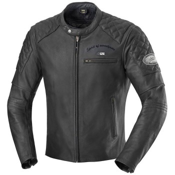 IXS motorcycle ELIOTT all-seasons man vintage leather jacket black PROMO