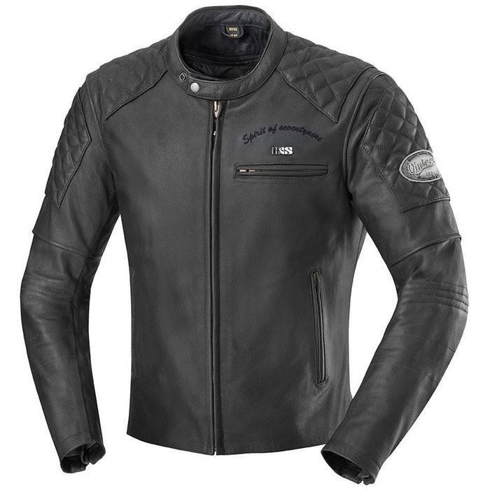 IXS motorcycle ELIOTT all-seasons man vintage leather jacket black PROMO
