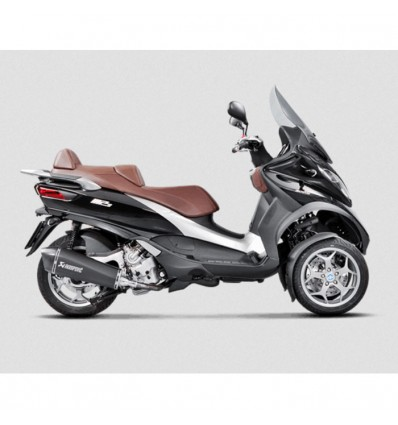 AKRAPOVIC Piaggio MP3 400 & 400 LT 2008 2013 INOX BLACK exhaust silencer muffler CE approved SLIP-ON 1811-2576