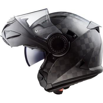 LS2 casque intégral modulable en jet CARBONE FF313 VORTEX moto scooter carbone mat