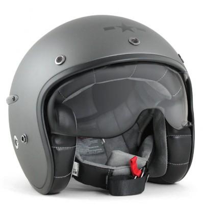 HARISSON casque jet moto scooter fibre gris mat - CA127