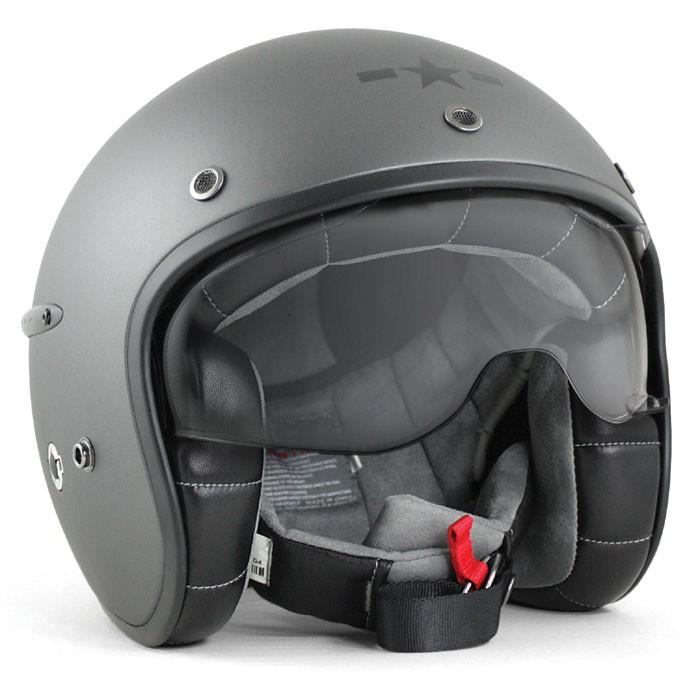 HARISSON tri composite fibber jet helmet moto scooter matt silver - CA127