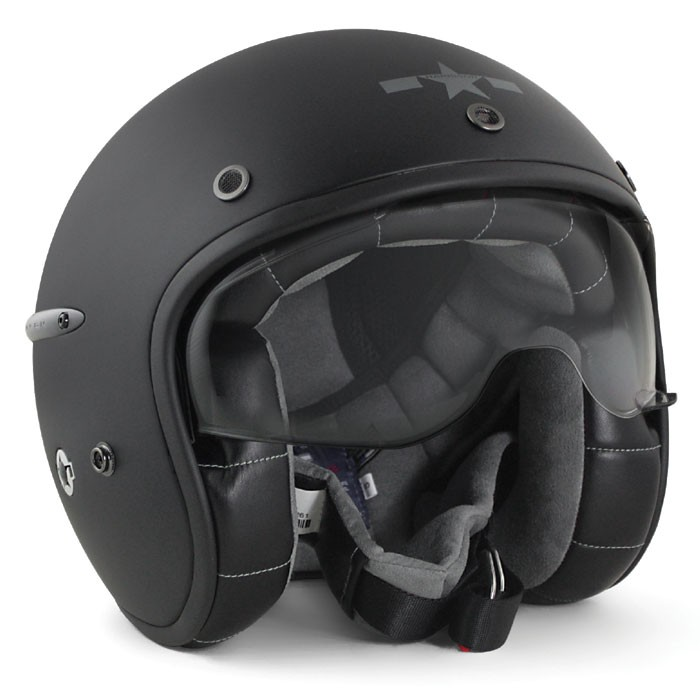 casque jet fibre moto scooter harisson chaft carbone noir mat. Black Bedroom Furniture Sets. Home Design Ideas