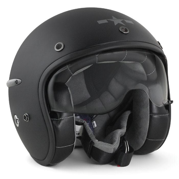 HARISSON tri composite fibber jet helmet moto scooter matt black - CA102