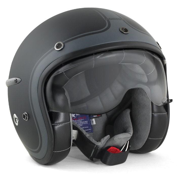 HARISSON tri composite fibber jet helmet moto scooter matt black-anthracite - CA112