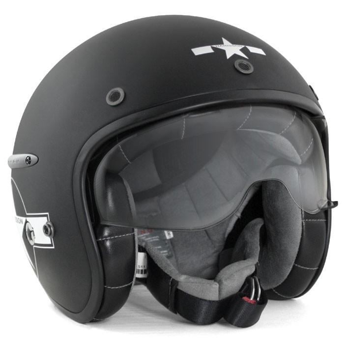HARISSON tri composite fibber jet helmet moto scooter matt black-white STAR DECO - CA121