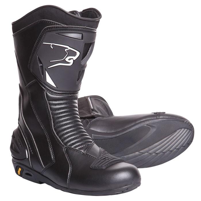 BERING bottes moto cuir SPORT GT route étanche X-ROAD noir BBO100