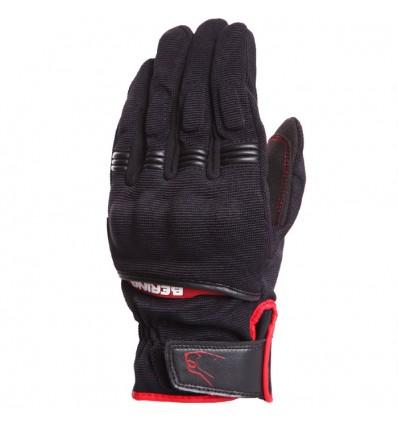 BERING gants textile FLETCHER moto scooter été homme noir rouge BGE161