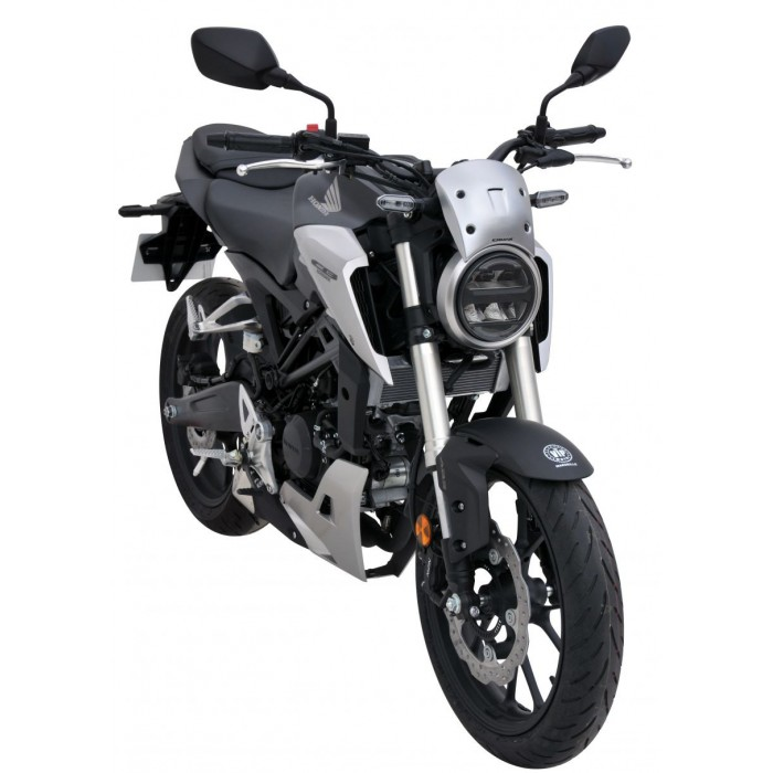 honda cb 125 r 2018 2019 saute vent bulle en abs peint 19cm. Black Bedroom Furniture Sets. Home Design Ideas