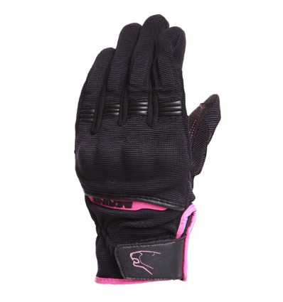 BERING gants textile Lady FLETCHER moto scooter femme été noir fushia BGE206