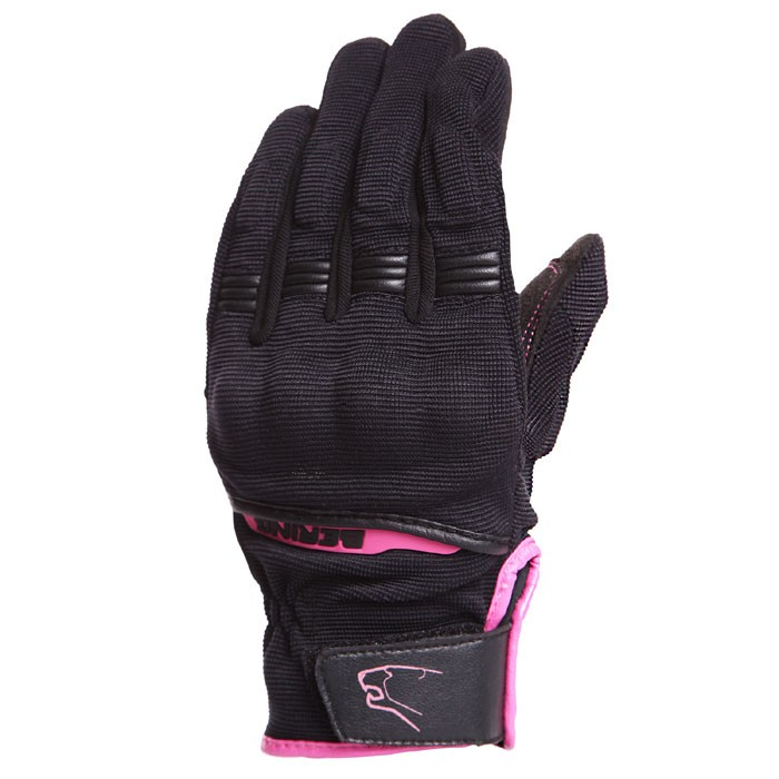 BERING Lady FLETCHER textile woman summer motorcycle scooter gloves black fushia BGE206