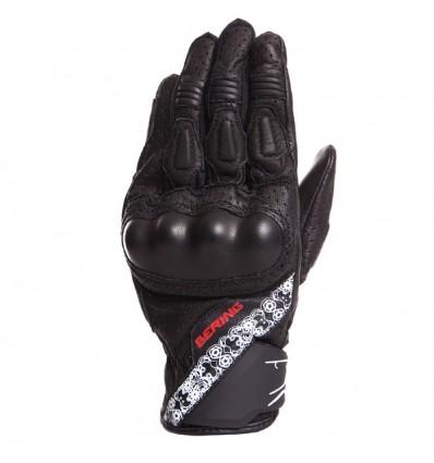 BERING gants cuir & textile LADY RAVEN moto scooter été femme noir BGE210