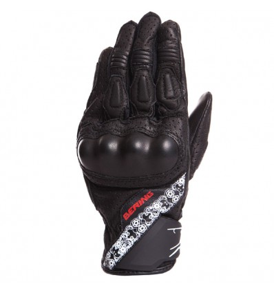 BERING LADY RAVEN woman leather & textile summer motorcycle scooter gloves black BGE210