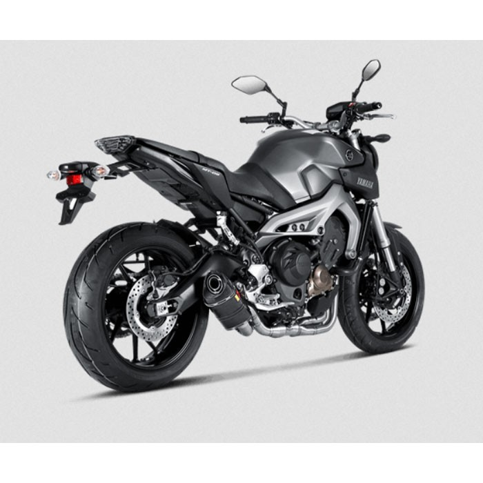 akrapovic yamaha mt09 2014 2017 ligne compl te racing en carbone pot d 39 chappement 1810 2216. Black Bedroom Furniture Sets. Home Design Ideas