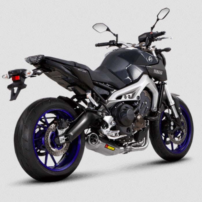 akrapovic yamaha mt09 2014 2016 ligne compl te racing en titane pot d 39 chappement homologu ce. Black Bedroom Furniture Sets. Home Design Ideas