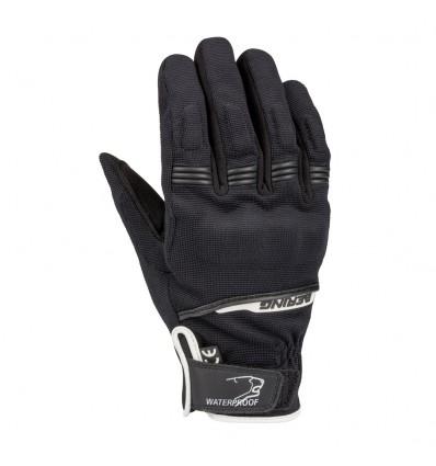 BERING gants textile BORNEO moto scooter mi saison homme étanche noir-blanc BGM919