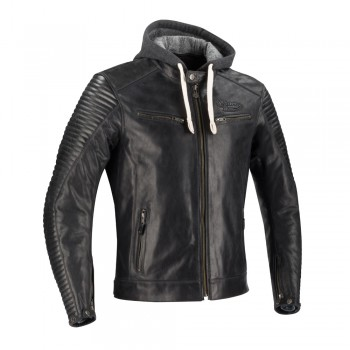 SEGURA motorcycle DORIAN vintage all seasons man leather jacket black SCB1350