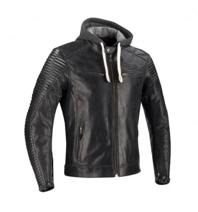 SEGURA motorcycle DORIAN vintage all seasons man leather jacket black SCB1350