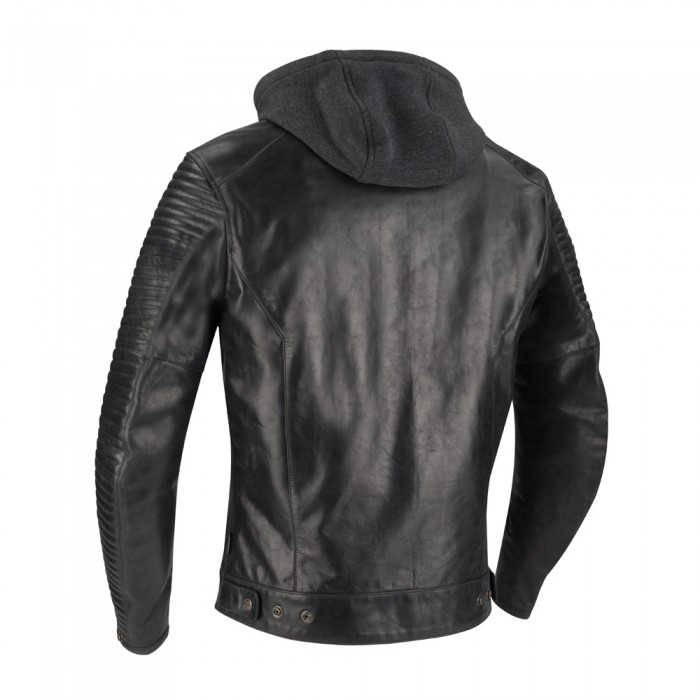 c7bee1ac3bf09b SEGURA blouson moto DORIAN cuir homme vintage toutes saisons noir SCB1350