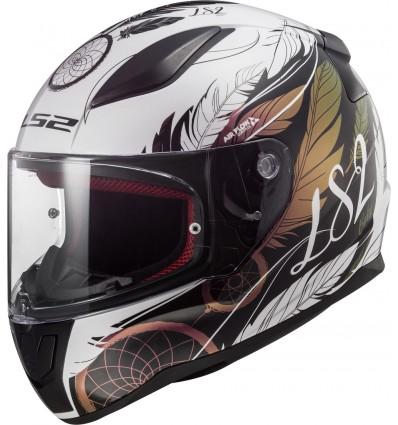Noir//Blanc LS2 Casque moto RAPID POPPIES Noir Blanc M