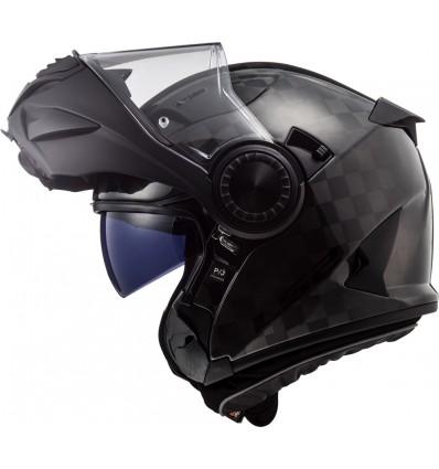 LS2 FF313 VORTEX CARBON SOLID modular in jet helmet moto scooter gloss carbon
