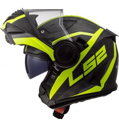 LS2 casque intégral modulable en jet CARBONE FF313 VORTEX FRAME moto scooter carbone fluo mat