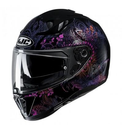 Hjc Road Full Face Motorcycle Helmet I70 Varok Mc 8 Woman Metal Black Pink Purple