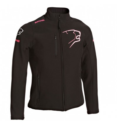 BERING SOFTSHELL motorcycle scooter woman winter jacket SPORTSWEAR black-fushia BSG026