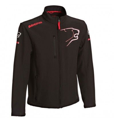 BERING veste SOFTSHELL froid moto scooter textile SPORTSWEAR homme noir-rouge BSG011