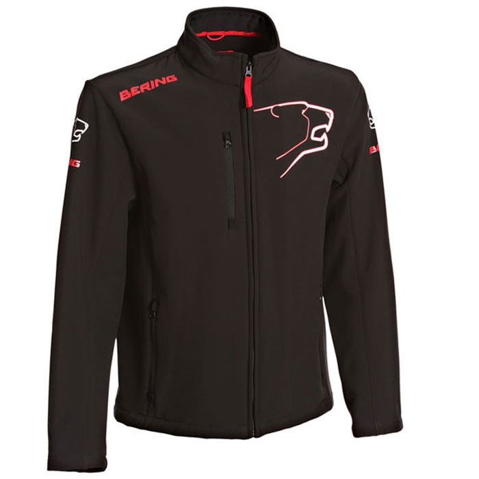BERING veste SOFTSHELL froid moto scooter textile SPORTSWEAR homme noir-rouge BSG011