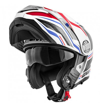 Givi Casque Intégral Modulable X33 Canyon Layers Moto Scooter Blanc