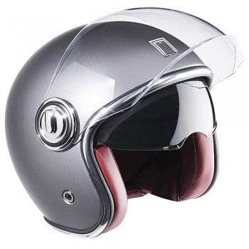 NOX vintage jet helmet moto scooter HERITAGE matt titanium